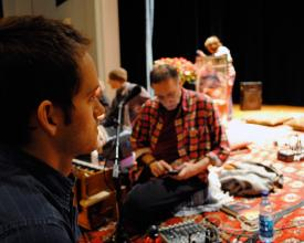 Director Jeremy Frindel and Krishna Das, 2009